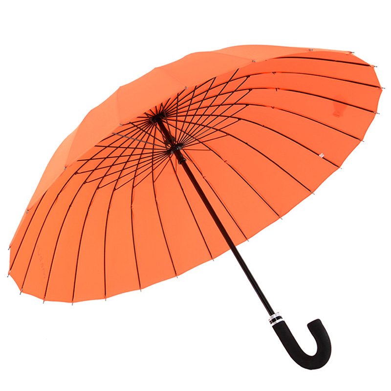 ANCHOW时尚长柄伞 加大加固遮阳防雨伞 蓝色橘色经典款 橙色